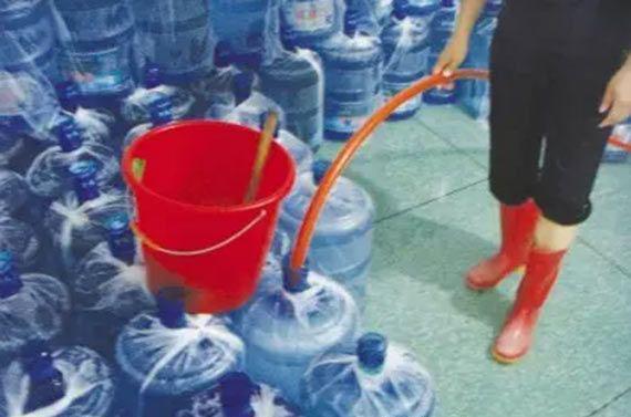 自来水充当桶装水