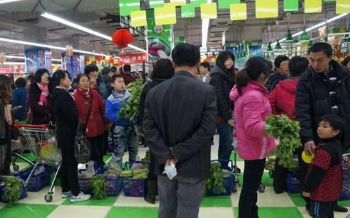 商场卖菜场景