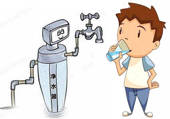 喝净水器净化过的水