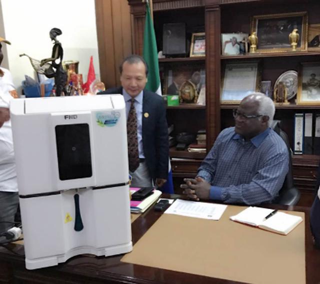 空气制水机受邀入驻塞拉利昂总统办公室