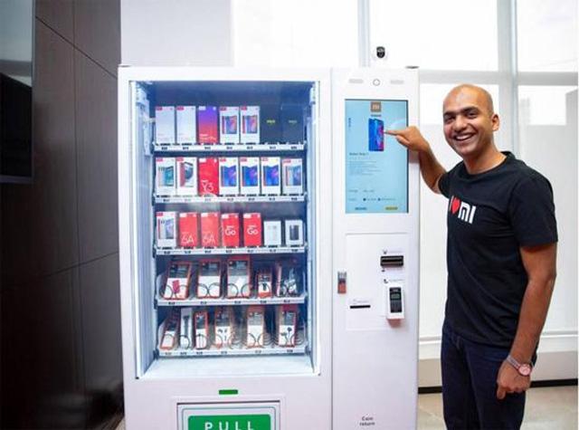 小米在印度推出智能手机自动售货机