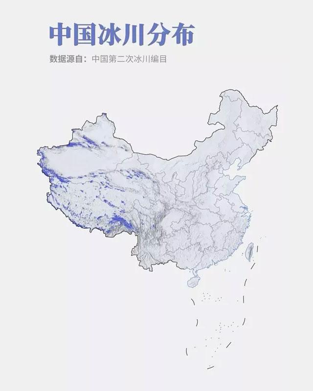 中国冰川分布